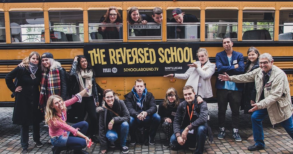 The Reversed Schoolbus op Strijp-S!